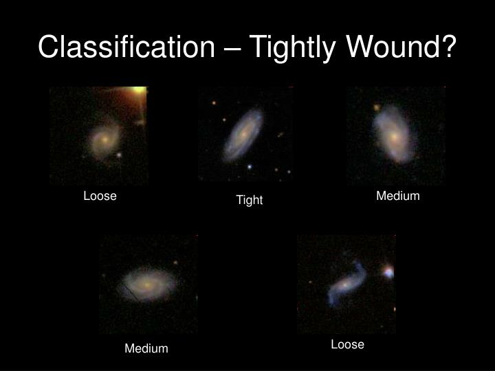 Classification – Tightly Wound?