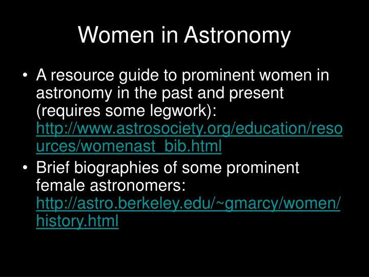 Women in Astronomy