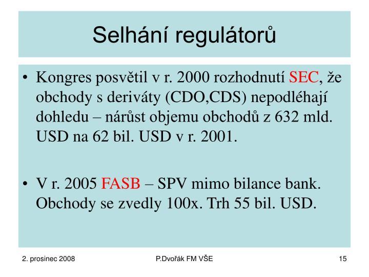 Selhání regulátorů