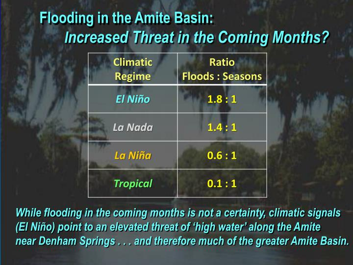Flooding in the Amite Basin: