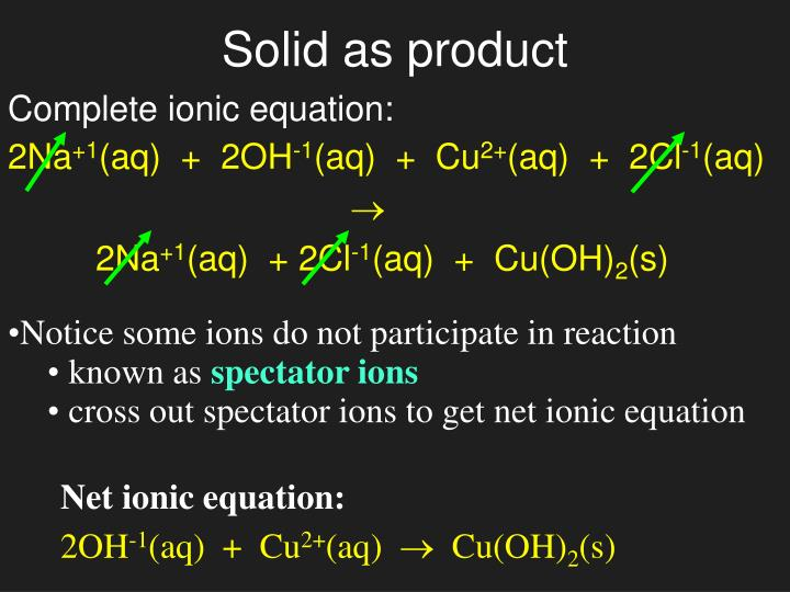 Net ionic equation: