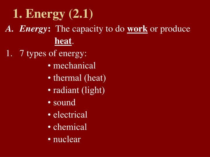 1. Energy (2.1)