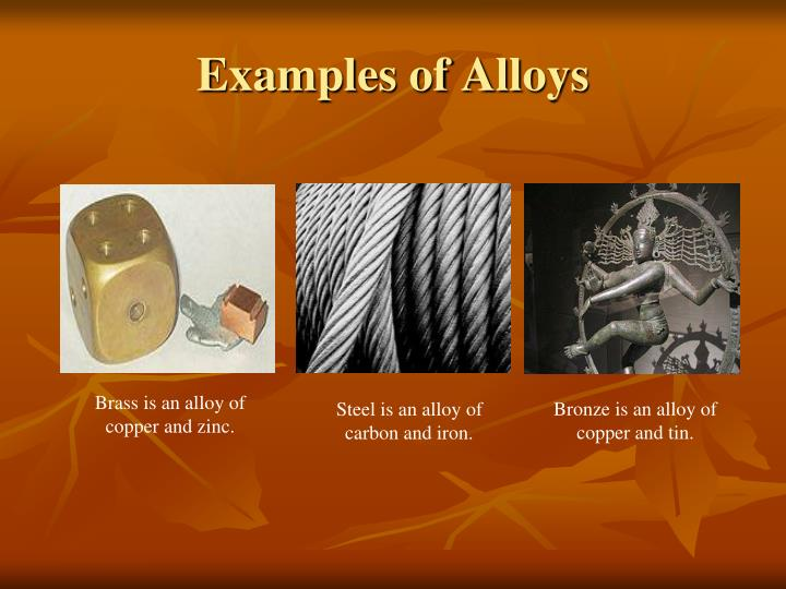 Examples of Alloys