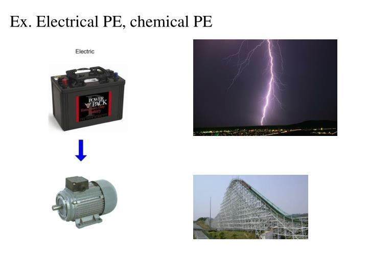 Ex. Electrical PE, chemical PE