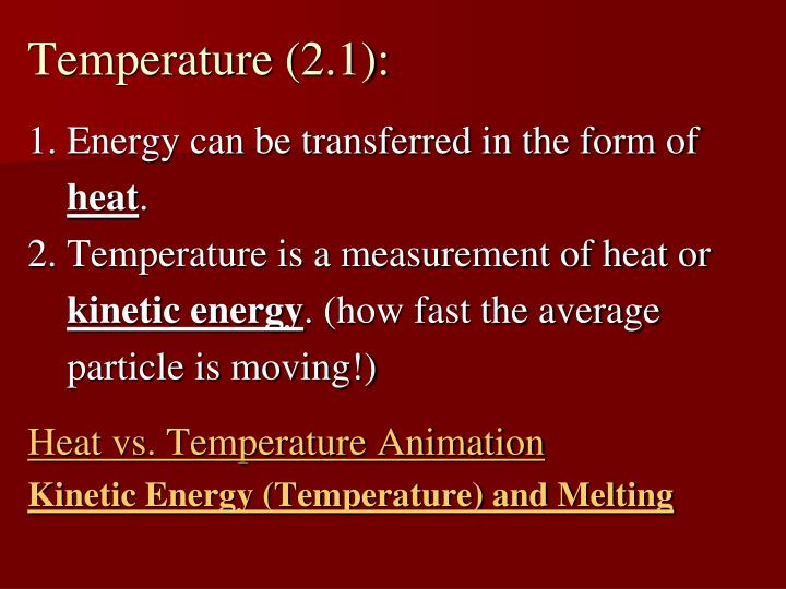 Temperature (2.1):