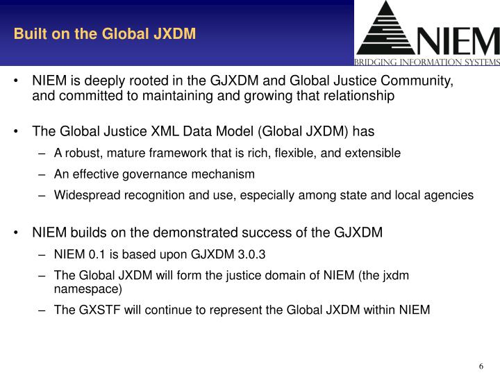 Built on the Global JXDM