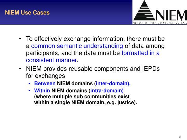 NIEM Use Cases