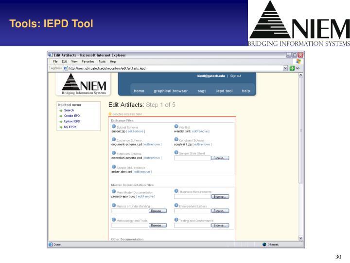 Tools: IEPD Tool