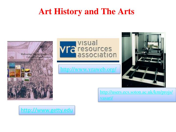 Art History and The Arts