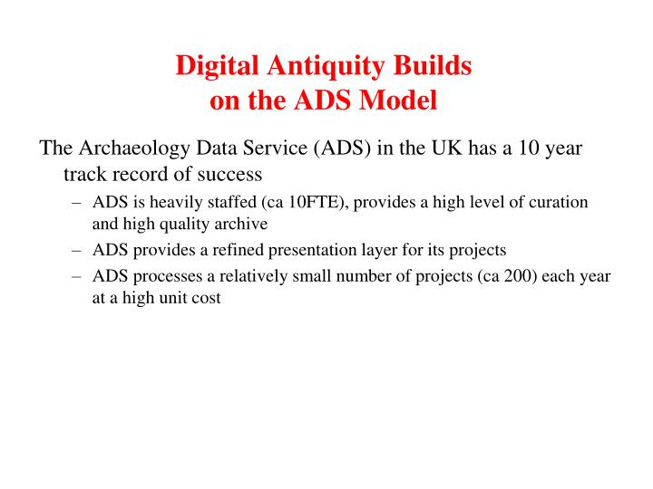 Digital Antiquity Builds