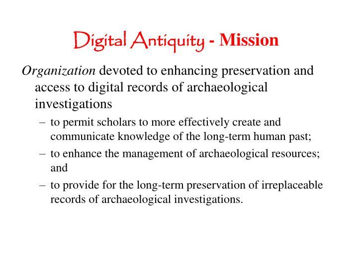 Digital Antiquity