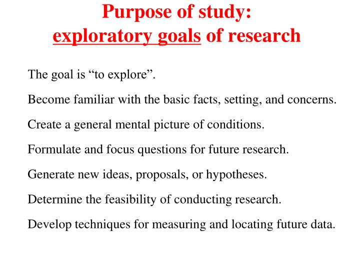 Purpose of study: