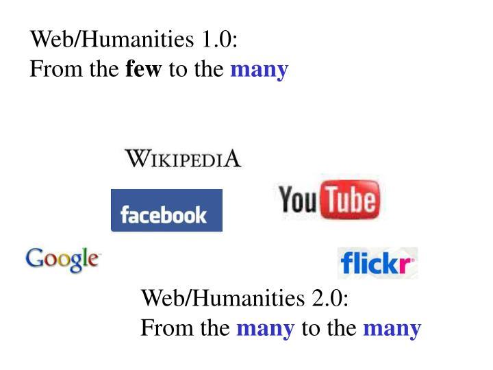 Web/Humanities 1.0:
