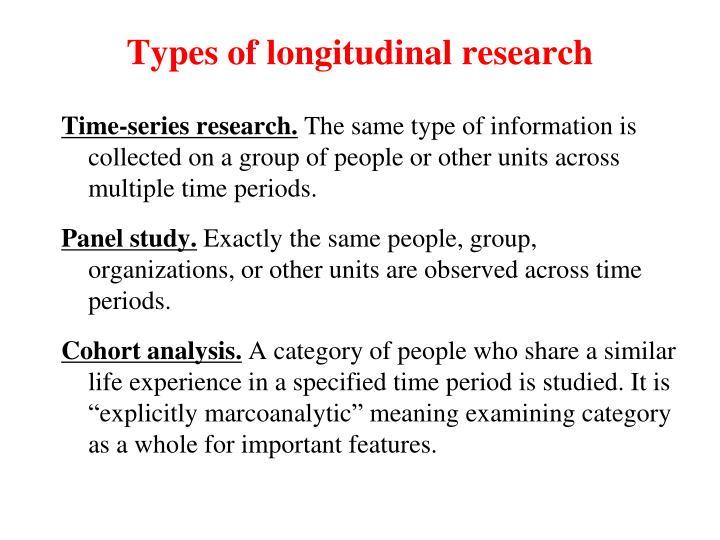 Types of longitudinal research