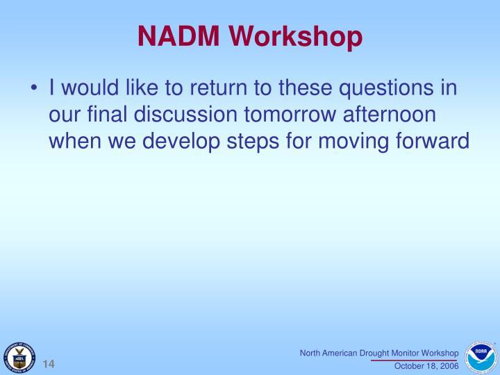 NADM Workshop