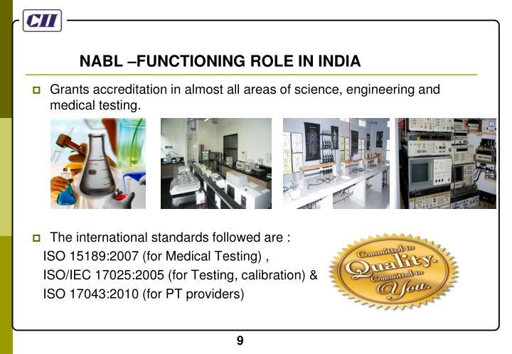 NABL –FUNCTIONING ROLE IN INDIA