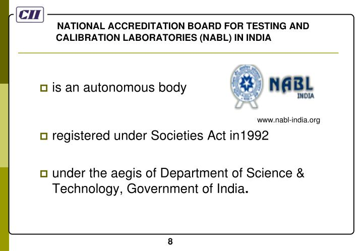 NATIONAL ACCREDITATION BOARD FOR TESTING AND