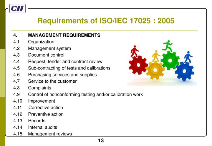 Requirements of ISO/IEC 17025 : 2005