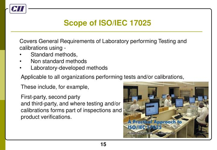 Scope of ISO/IEC 17025