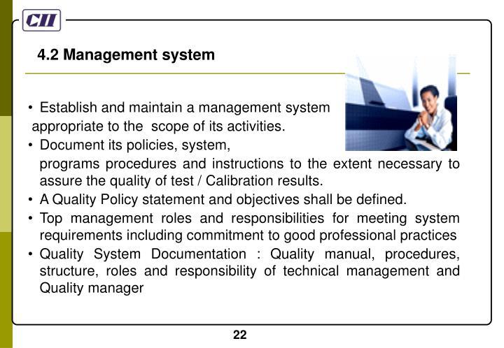 4.2 Management system