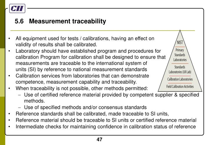 5.6   Measurement traceability