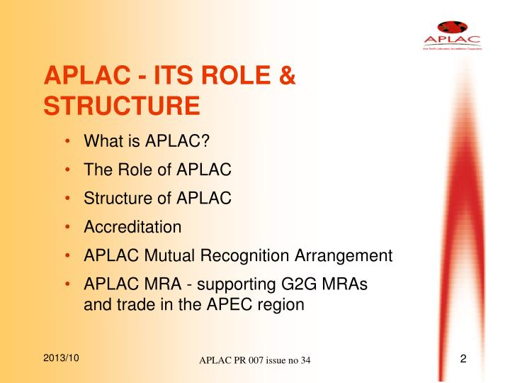 Aplac its role structure