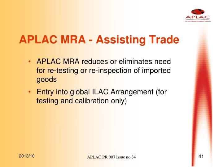 APLAC MRA - Assisting Trade