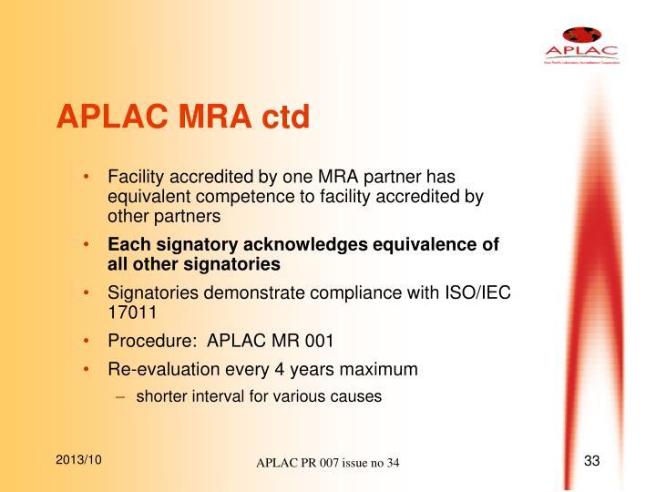 APLAC MRA ctd