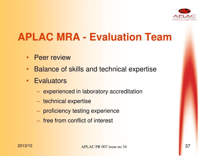 APLAC MRA - Evaluation Team