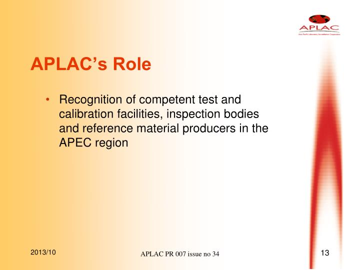 APLAC's Role