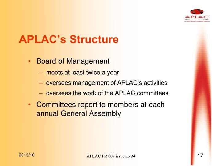 APLAC's Structure