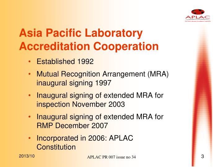 Asia Pacific Laboratory Accreditation Cooperation