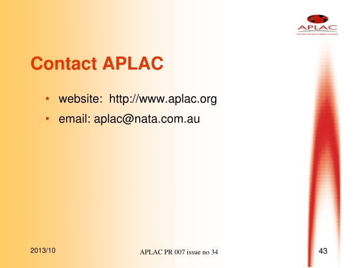 Contact APLAC