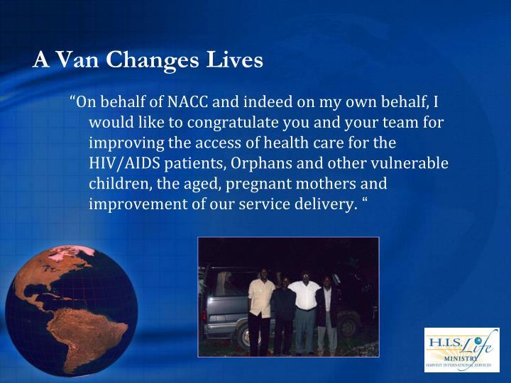 A Van Changes Lives