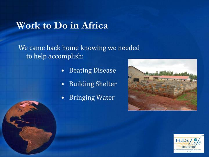 Work to Do in Africa