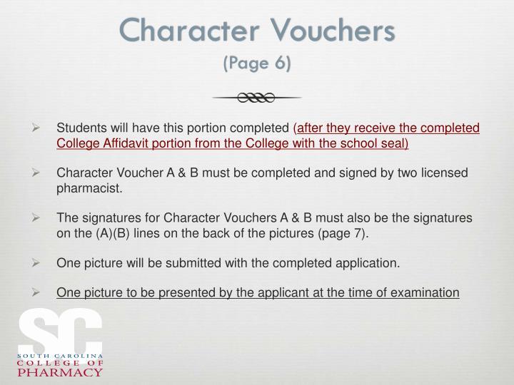 Character Vouchers