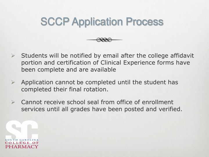 SCCP Application Process