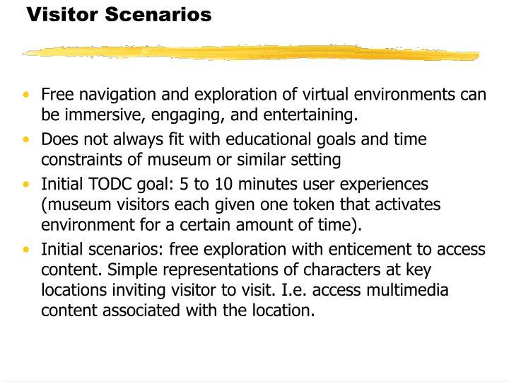 Visitor Scenarios
