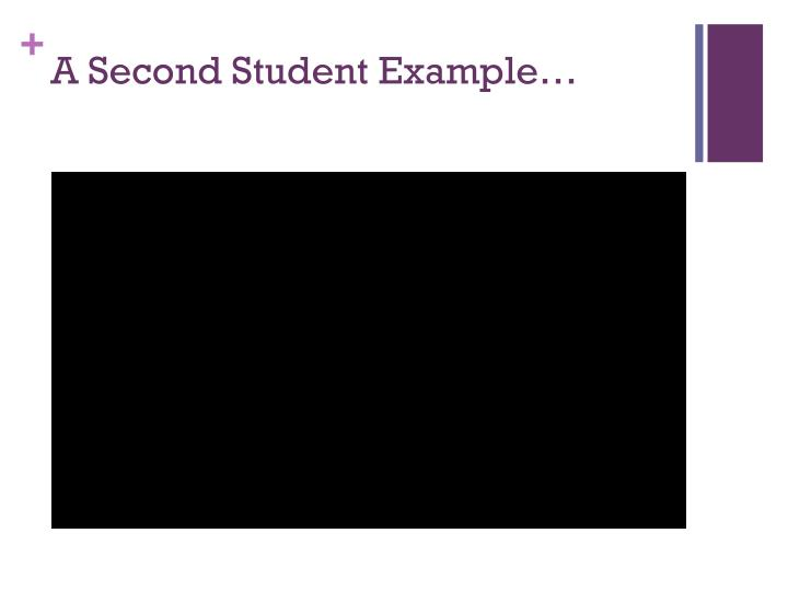 A Second Student Example…