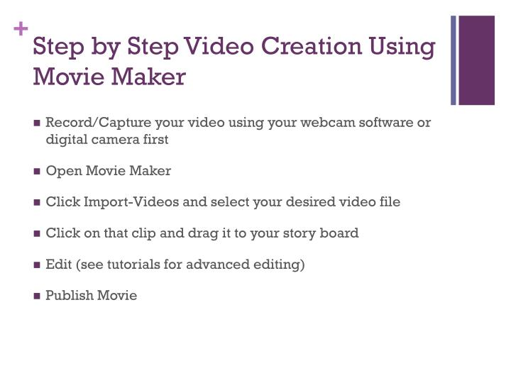 Step by Step Video Creation Using Movie Maker
