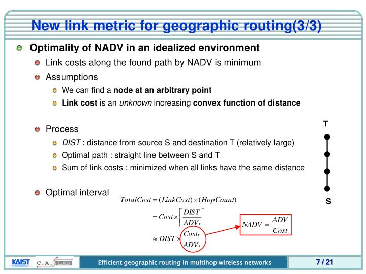 New link metric for geographic routing(3/3)