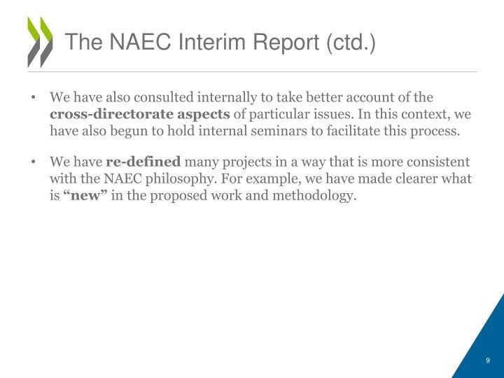 The NAEC Interim Report (