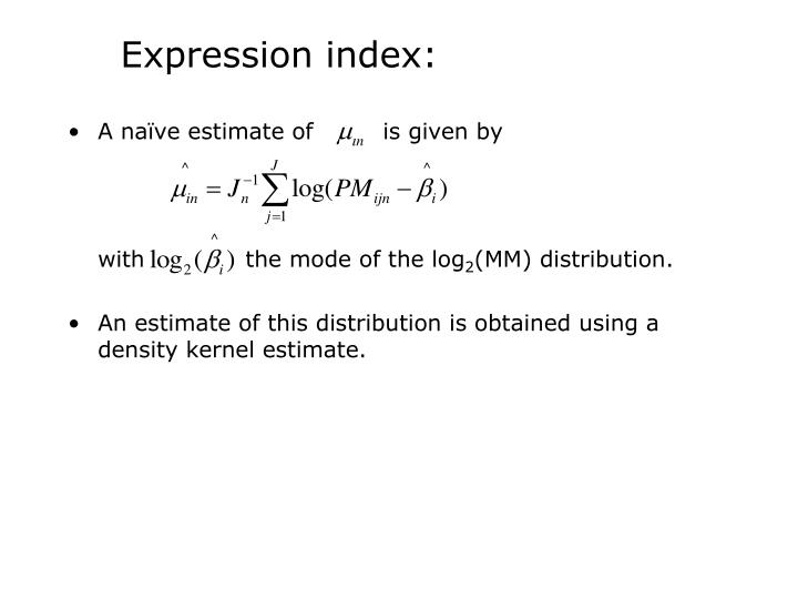 Expression index: