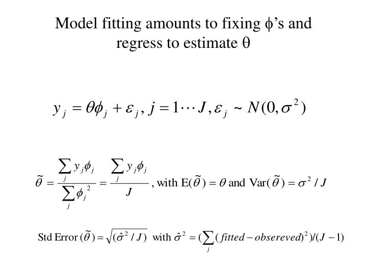 Model fitting amounts to fixing
