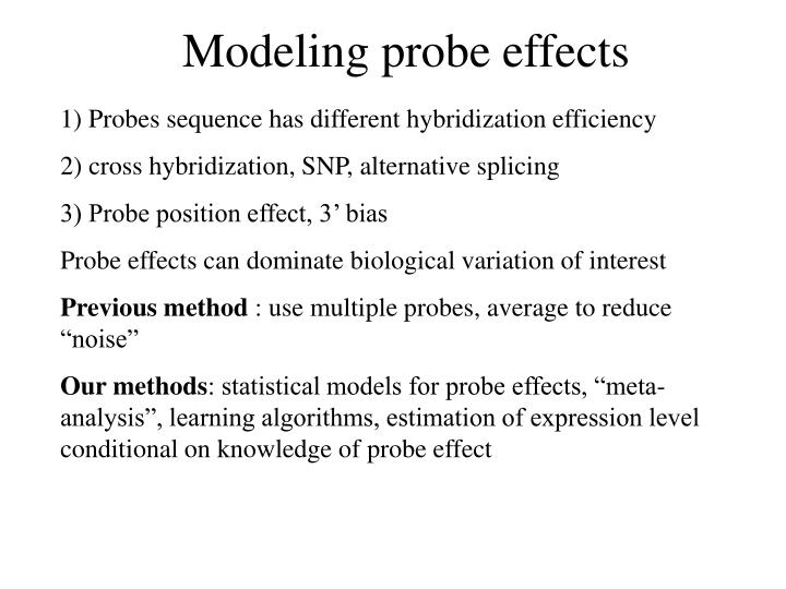 Modeling probe effects