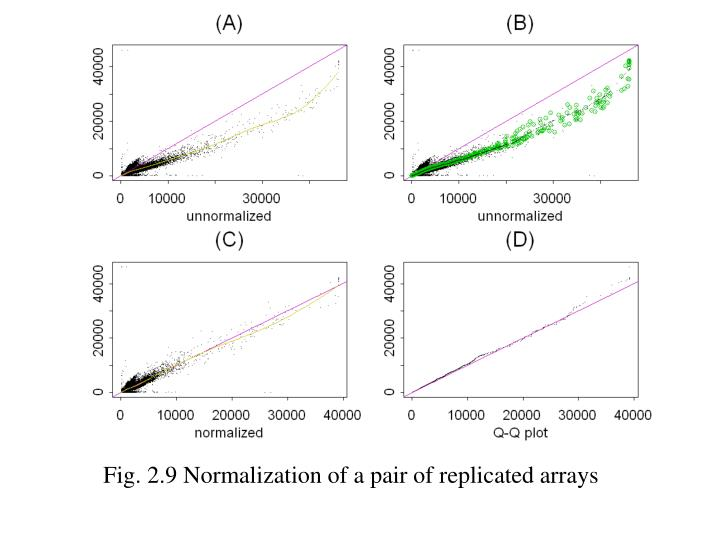 Fig. 2.9 Normalization of a pair of replicated arrays