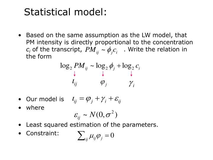 Statistical model: