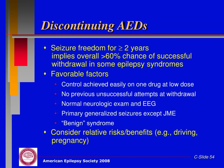 Discontinuing AEDs