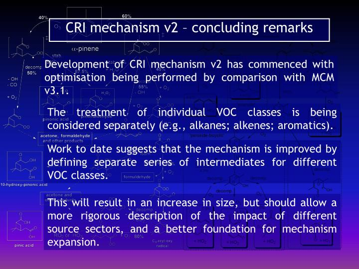 CRI mechanism v2 – concluding remarks