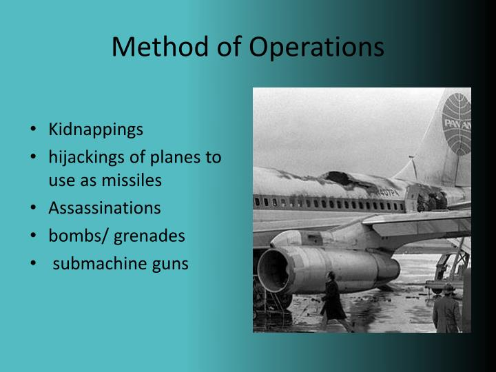 Method of Operations